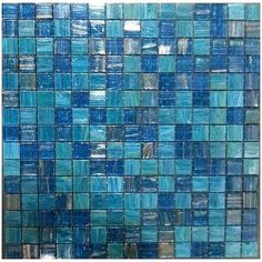 Parma Mix-Italian Glass Mosaic Pool Tiles On Plus System