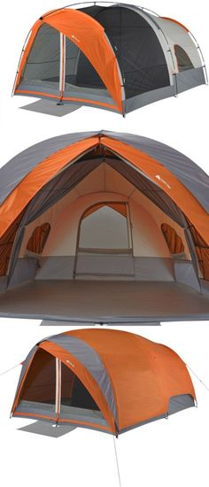 Tents 179010 Ozark Trail 8-Person Dome Tunnel Tent With Maximum Weather Protection -  sc 1 st  Pinterest & Tents 179010: Ozark Trail 8-Person Dome Tunnel Tent With Maximum ...
