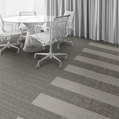 Interface Floor Design                                  | WW860: Linen Tweed, WW860: Natural Tweed, WW895: Heather Weave |                                  Find inspiration for your next interior design project with floors composed of modular carpet tiles from Interface