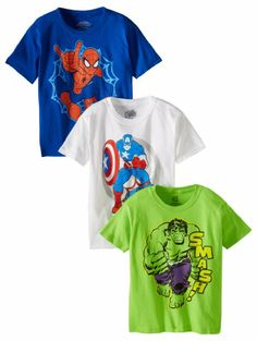 Amazon.com: Marvel Boys 2-7 Character Tee 3 Pack, Multi, Small (2T/4T): Clothing