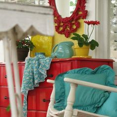 Red And Turquoise Design Ideas, Pictures, Remodel, and Decor