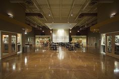 Living Water Community Church Foyer | Flickr - Photo Sharing!  Cool floor idea, neutral colors, clean