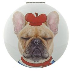 Fun Cat and Dog Meow and Woof Compact Mirror Christmas Animal Beauty Novelty Gatos Cool, Christmas Animals, Compact Mirror, Cool Cats, French Bulldog, Dog Cat, Fun, Beauty, Drop Zone