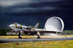 un Vulcan regresando de una misión a puerto Argentino tras un larguisimo vuelo (y del cual nunca sacaron los resulados esperados al menos contra la pista) de Mel Grosse