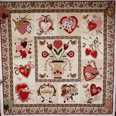 The sewing stops for a bit now while some lessons in design happen. Applique Patterns, Applique Quilts, Applique Designs, Quilting Designs, Quilt Patterns, Valentines Design, Vintage Valentines, Crochet Baby Cocoon Pattern, Shabby Fabrics