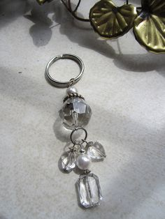 Beaded Key Chain Zipper Pull Pendant  by JewelsOfHighElegance, $8.50
