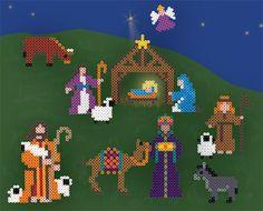 Nativity from perler beads:
