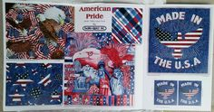 Patriotic National Monuments Collage Fabric Design. ©AmyCallaway