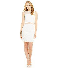 Aidan Aidan Mattox Sleeveless Popover Dress #Dillards