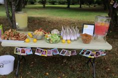 Party Table Set up. Photo Banner. You are my Sunshine. One year old Birthday Party