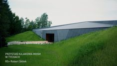 Materiał włóknocementowy EQUITONE [linea] oraz EQUITONE [pictura], na przystani kajakowej w Tychach. Projekt: RS+ Robert Skitek;  Fotografia: Tomasz Zakrzewski Archifolio #architektura #equitonepolska #linea #pictura #tychy #przystań #włóknocement #elewacje