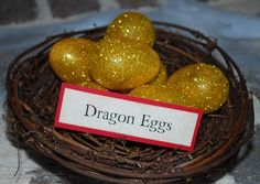 HP : dragon eggs for favors for party game  For gnoming: vodka jelly dragon eggs?    My kids aren't at the age for Harry Potter yet, but I think this still might be fun to do around Easter.