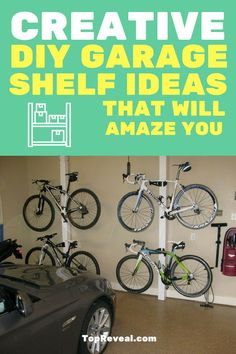 Homeowners know that a garage is a prime place for storage. But even that said, the wide empty space of the garage is not always enough to keep your things nice and tidy. Enter the garage shelf, a fun, creative and useful way to optimize your garage storage. Today we will explore some of them as we take a look at some great DIY garage shelf ideas. #DIY