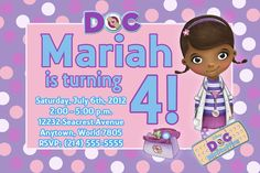 Ideas for Doc Mcstuffins birthday party