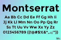 Montserrat Font Family styles) by Julieta Ulanovsky Montserrat Font, Letter Example, Sans Serif Fonts, Typography, Lettering, Light Of Life, Font Family, Inspire Me