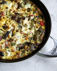 Roasted Vegetable Queso Frittata