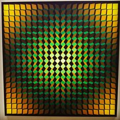Cristallisation jaun-vert by Yvaral (1973)