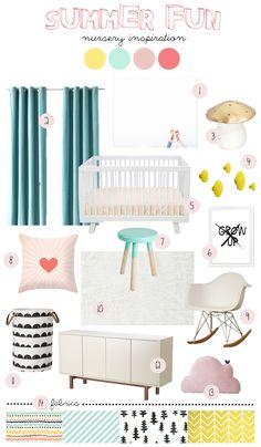summer fun nursery inspiration