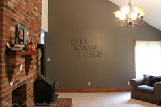 2014 3D Quote in the wall color for a fun accent wall
