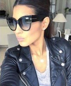 ef44efdef1 Oversized Cat Eye Anoushka Women Sunglasses Thick Frame Sunglasses  Accessories