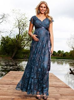 cb454e5d9f37 Eden Maternity Gown Long (Caspian Blue) - Maternity Wedding Dresses