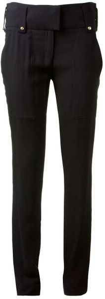 Love this: ANTHONY VACCARELLO Black Belted Slim Trouser @Lyst
