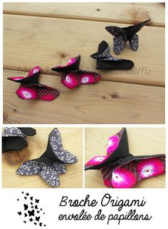 deptitsriens tuto : http://leslubiesdelouise.files.wordpress.com/2013/04/papillon-en-tissu-fac3a7on-origami-les-tutoriels-de-louise.pdf