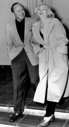 Marilyn Monroe and Jack Benny following a rehearsal for the Jack Benny Show, September 10, 1953.