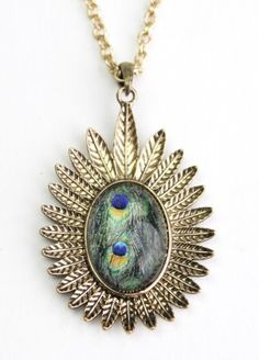 Eye of the Peacock Necklace $11.00