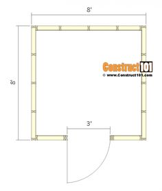Shed Plans - Small Barn - Floor View 8x8 Shed, Prefabricated Sheds, Shed Sizes, Shed Construction, Small Barns, Shed Dormer, Build Your Own Shed, Garden Tool Shed, Shed Doors