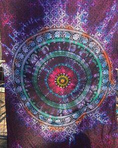Tie Dye Elephant Mandala Tapestry by UniquelyTwistedDyes on Etsy