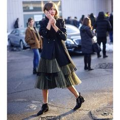 Alexa Chung's Luella-style tulle skirt is one of our favourite street style spots so far. Redonline.co.uk