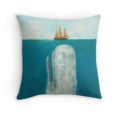 This Moby Dick-inspired throw pillow is the perfect accent piece for the nautical home. Find it on Redbubble for $19.84.