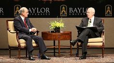 #Baylor University and President Ken Starr welcomed former Senate Majority Leader George Mitchell to campus on April 16, 2013 -- the latest in a growing line of special guests that has also included former Secretary of State Condoleezza Rice and U.S. Supreme Court Justice Sandra Day O'Connor. #sicem