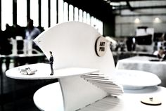 An Art Pod spaceship museum landed at Bread and Butter Berlin. Tempelhof Airport