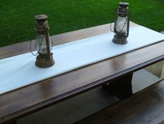 Rustic table with benches. Before and After myalteredstate.co
