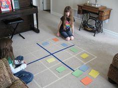 Wir lieben Böden! Hier eine tolle Idee, wie man den Boden zum überdimensionalen Spielfeld macht. Hier als Sudoku!
