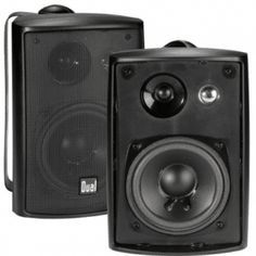 Dual Electronics 4 inch High Performance Indoor, Outdoor & Bookshelf Studio Monitor Speakers with Swivel Brackets & 100 Watts Peak Power (Sold in Pairs) Studio Speakers, Monitor Speakers, Music Speakers, Speakers For Sale, Bookshelf Speakers, Audio Studio, Bluetooth Speakers, Recording Studio, Best Outdoor Speakers