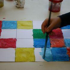 Ας παίξουμε: εμπνευσμένο από τον Piet Mondrian επιτραπέζιο Piet Mondrian, Plastic Cutting Board, Colours, Contemporary, Blog, Painting, Home Decor, Games, Greek