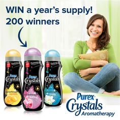 Renew, relax, and rediscover - 200 will win a year's supply of Purex Crystals Aromatherapy