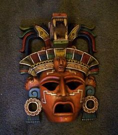 TRIBAL MASK HAND CARVED WOOD