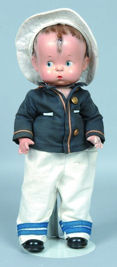 vintage composition effanbee skippy doll   Effanbee Skippy Composition Doll