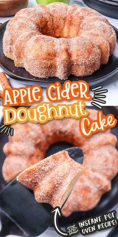 Cake Mix Recipes, Donut Recipes, Apple Recipes, Fall Recipes, Sweet Recipes, Holiday Recipes, Dessert Recipes, Cooking Recipes, Cute Baking