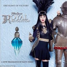 Scent Of Victory: Katy Perry shared an ad for her new scent Killer Queen's Royal Revolution on Tuesday- Inspired by Madonna?