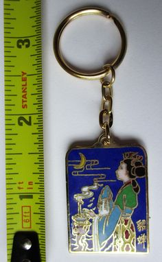 "Excited to share the latest addition to my #etsy shop: 3.3"" Vintage Pendant Keyring Cloisonne Beauty Pageant Chinese Gold Enamel http://etsy.me/2GLWfrY #accessories #keychain #gold #graduation #easter #vintagependant #cloisonnekeyring #beautypageant #goldplated"
