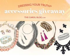 Which of these accessories would YOU pick? Enter the giveaway by March 31 and one lucky winner will win a 3-piece set of new Dressing Your Truth accessories!