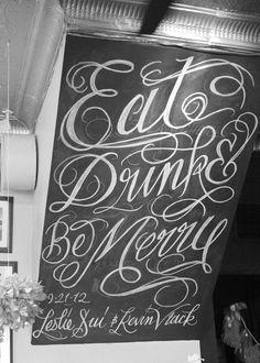 chalk wedding type
