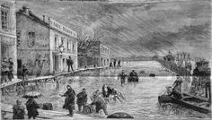 Débordement de la seine - Le quai de Bercy, janvier 1879