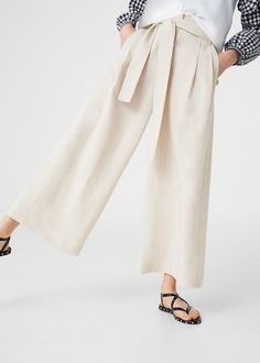Palazzo trousers - Woman | MANGO United Kingdom