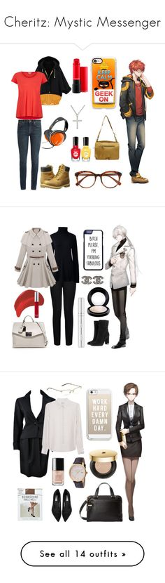 """Cheritz: Mystic Messenger"" by thatshippertypefangirl ❤ liked on Polyvore featuring Kiki Minchin, Osgoode Marley, Yves Saint Laurent, Splendid, Timberland, Sally Hansen, Casetify, Derek Lam, STELLA McCARTNEY and Tumi"